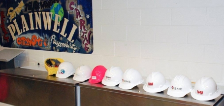 Hardhat prizes donated by sponsors